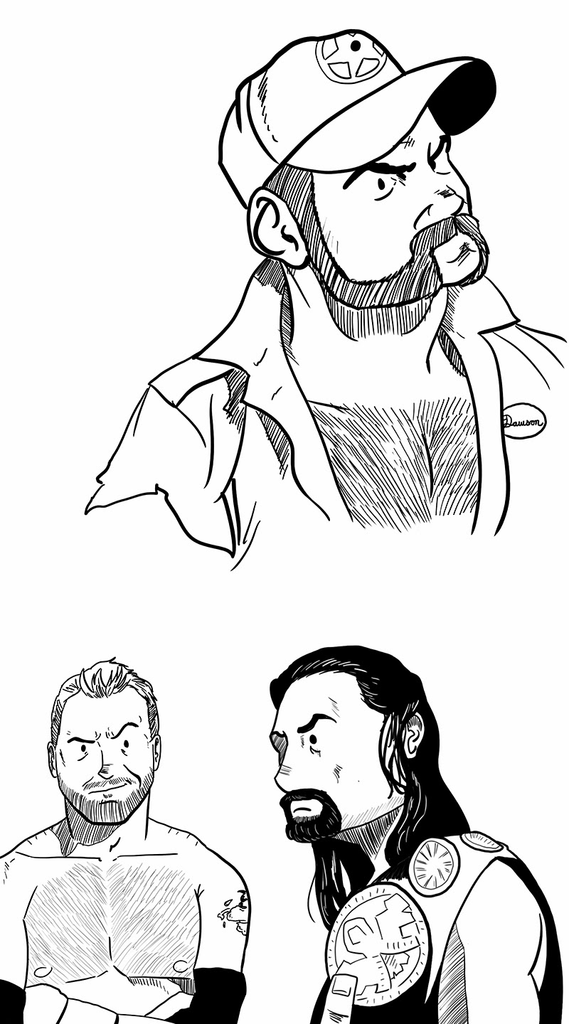 Coloring Sheets Of Wwe Wrestling Roman Reigns Coloring Pages