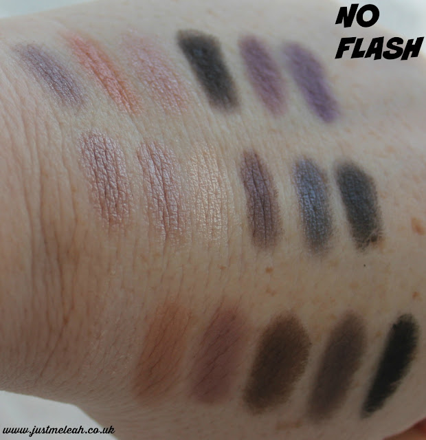 MAKEUP REVOLUTION HARD DAY PALETTE SWATCHES