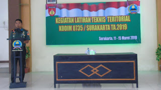 Kodim 0735/Surakarta Gelar Latnister TA. 2019