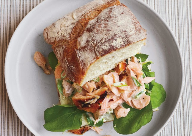 Spring salmon salad sandwiches recipe