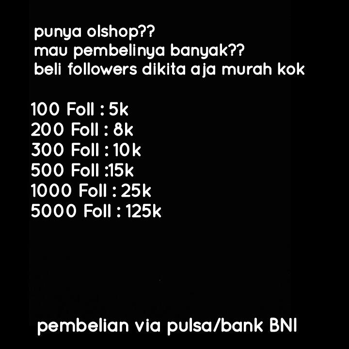 Jual Followers Murah