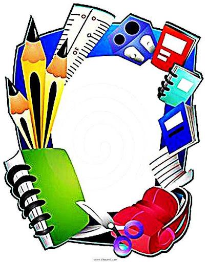 Bordas Pedagogicas Coloridas Com O Tema Escola Bordas Escolares