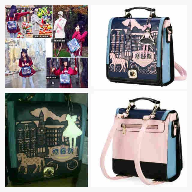 Aza Princess Series Camera Shoulder Bag Backpack Handbag