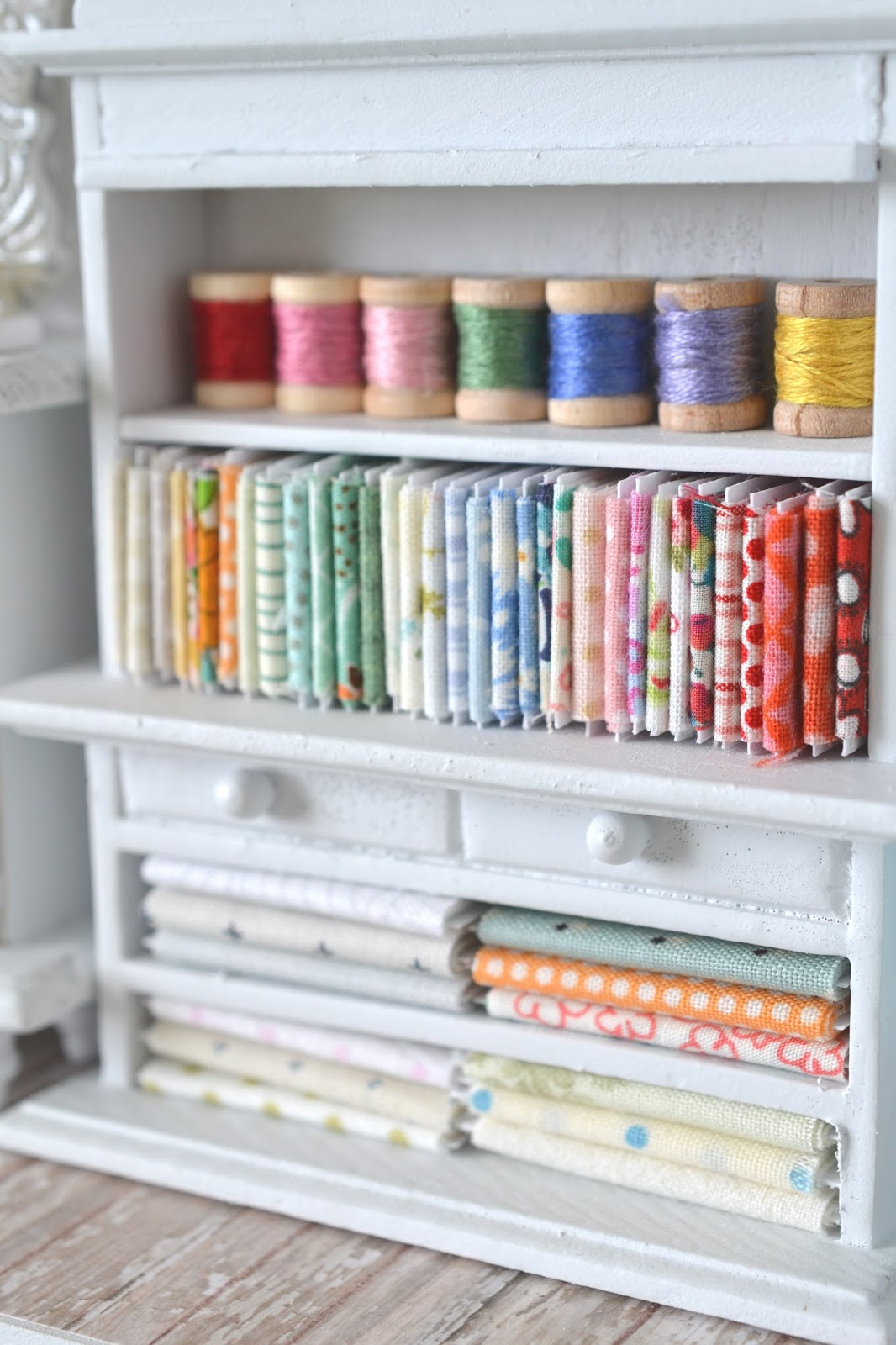 Sewing Room Designs: Tea Rose Home: Big Reveal Of Small Sewing Room ~Part 3