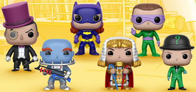 Batman 1966 Pop! Series 2 Vinyl Figures by Funko - Batgirl, Mr. Freeze, The Penguin, King Tut & The Riddler