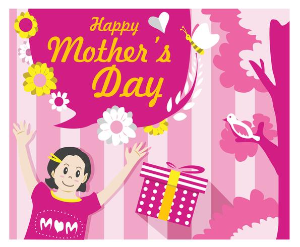 Mother's Day Card free Vector