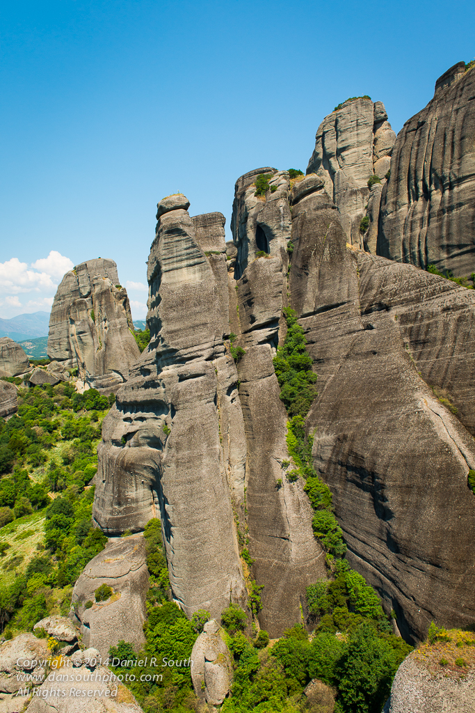 a photo of Towering Rock Formations at Metéora