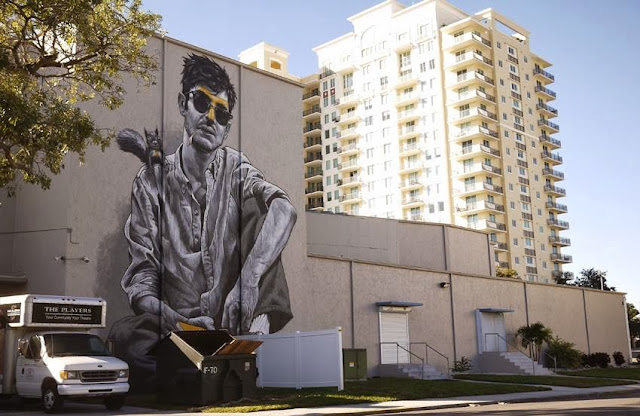 """""""Florida, Mon Amour"""" New Street Art Piece By MTO at the PLAYERS Theatre in Sarasota, USA. 5"""
