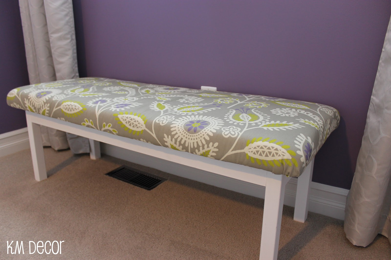 KM Decor: DIY: Upholstered Bench