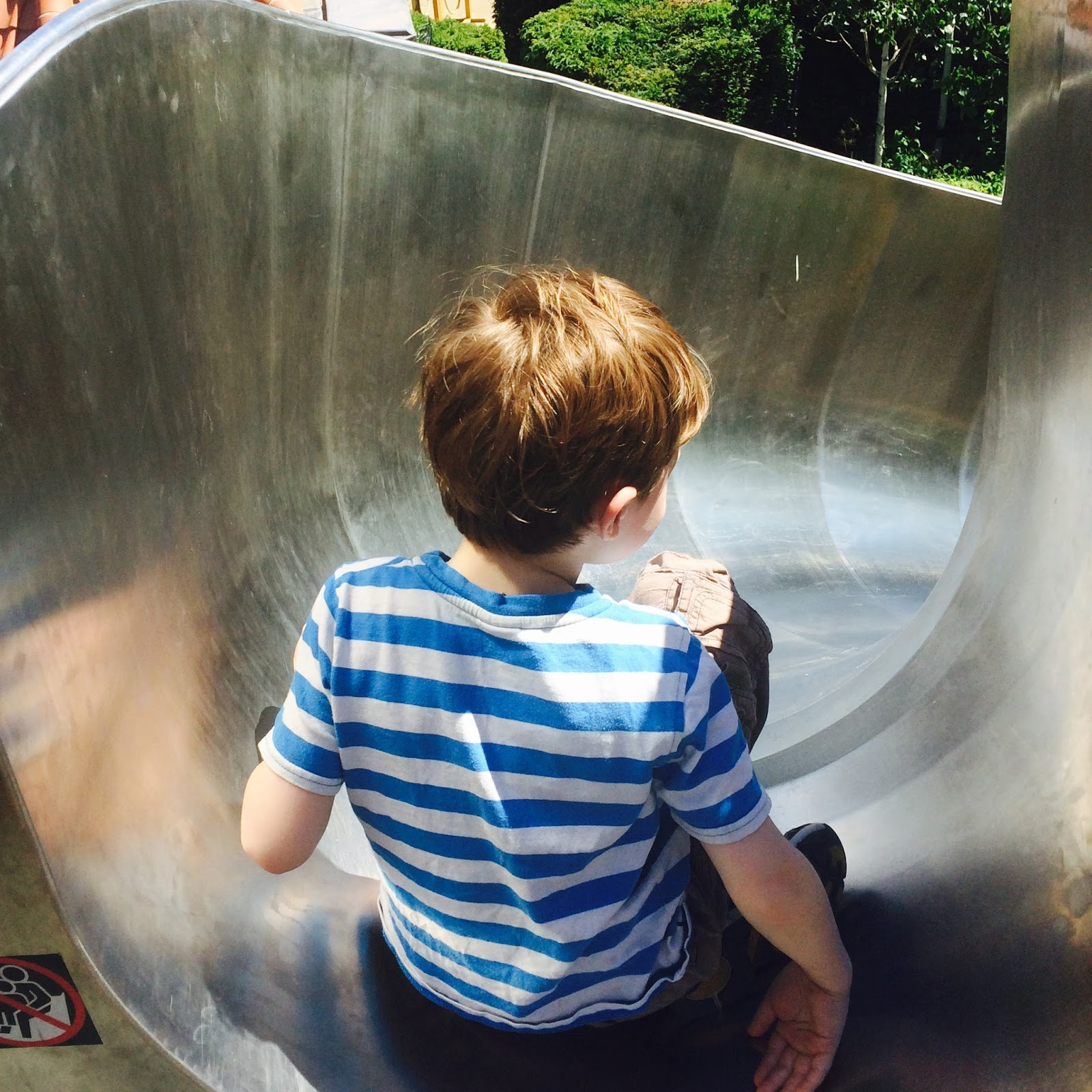 'AutismParenting: Never underestimate the value of routine', David on a slide