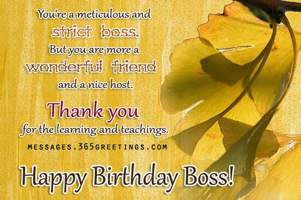 Birthday Wishes Card For Your Boss