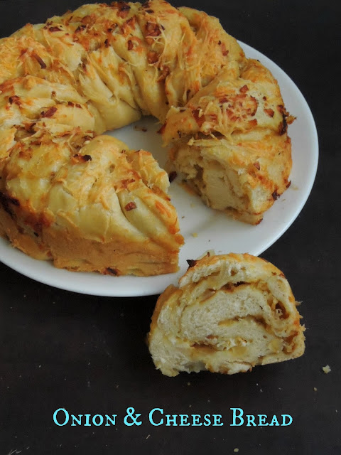 Eggless Onion & Cheese Bread