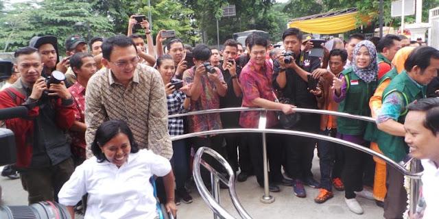Ahok: Tahun Ini, Semua Trotoar di Jakarta Ramah Disabilitas