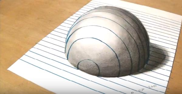 مدونة أرسم بالرصاص رسم ثلاثي الابعاد بطريقة Sandor Vamos فيديو