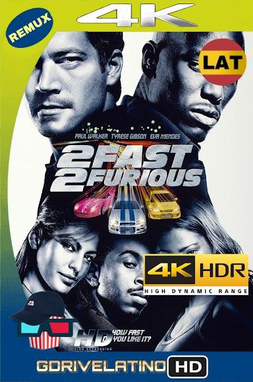 Más Rápido y Más Furioso (2003) BDRemux 2160P 4K HDR Latino MKV