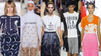 From left: Stella McCartney, Paco Rabanne, Dior, Sacai and Haider Ackermann. Photos: Imaxtree