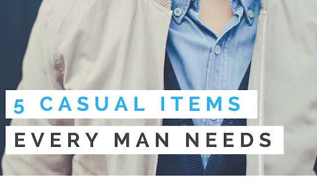 Casual clothing essentials for a man's closet