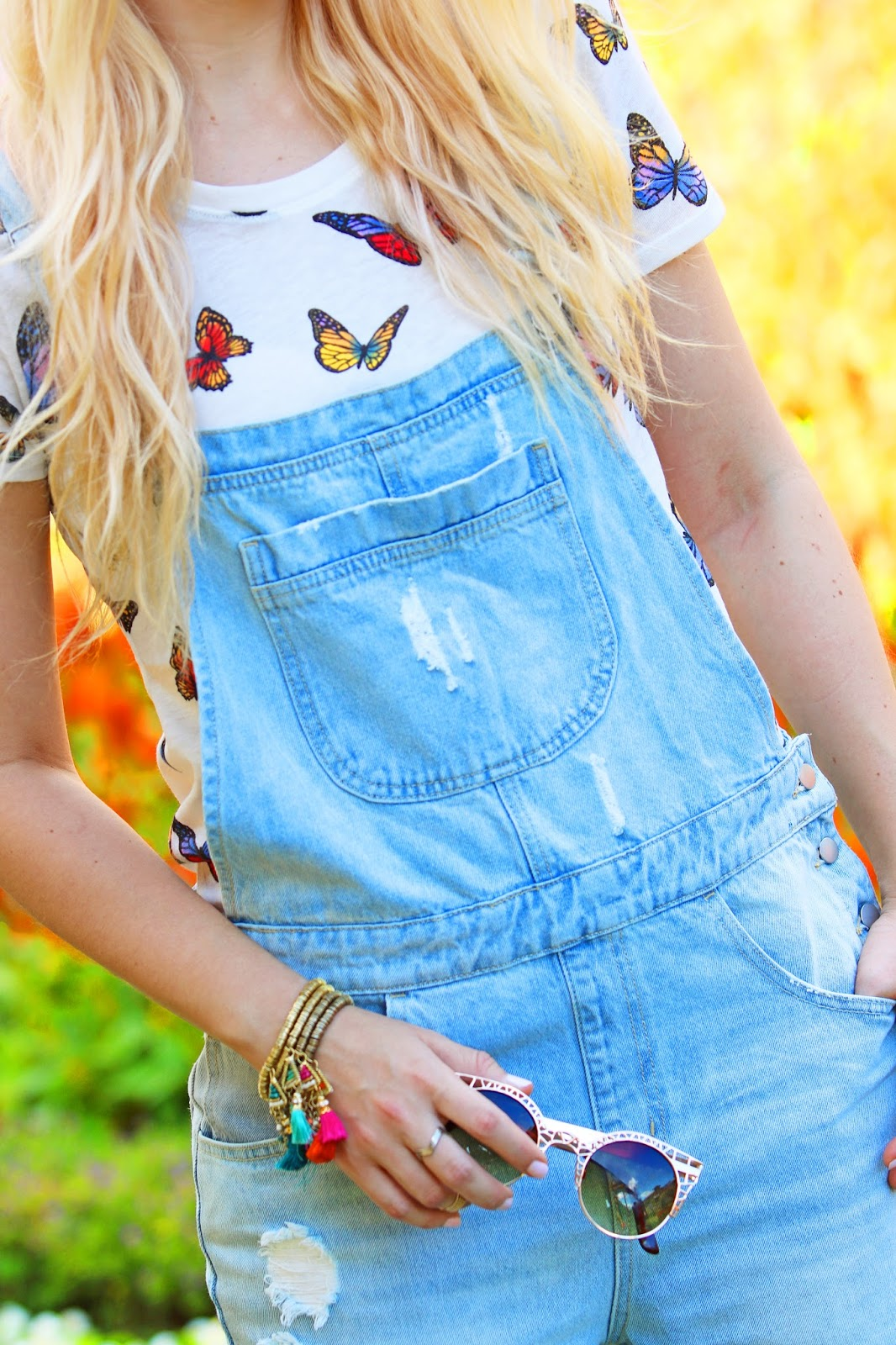 Outfit with Denim overalls from forever21