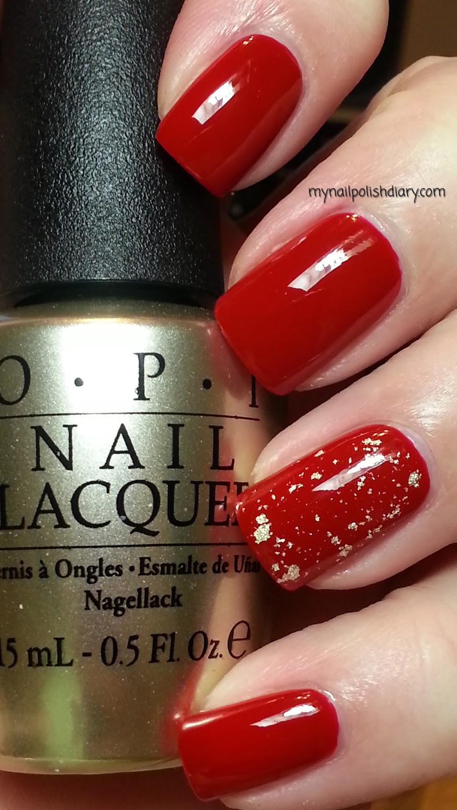 my nail polish diary opi red hot rio with opi the man