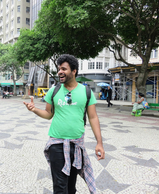 Rafael, our guide on our Rio by Foot free walking tour