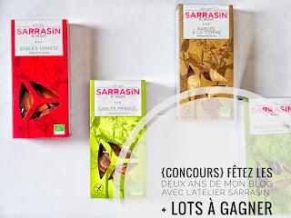 {Concours} : Fêtez les deux ans de mon blog avec l'Atelier Sarrasin + Lots à gagner