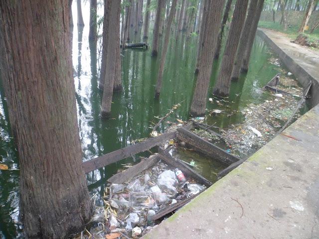 lac déchets wuhan
