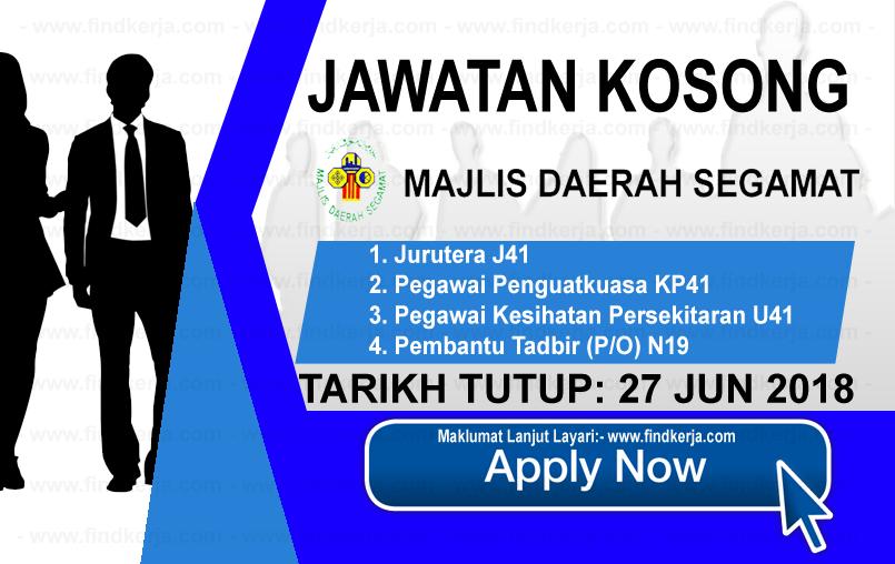Jawatan Kerja Kosong Majlis Perbandaran Segamat logo www.findkerja.com www.ohjob.info jun 2018