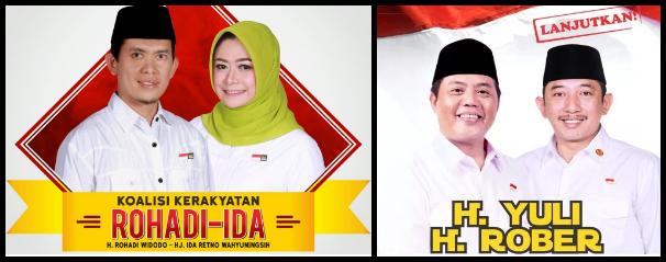 Dua pasang calon Bupati dan wakil Bupati Kabupaten Karanganyar 2018