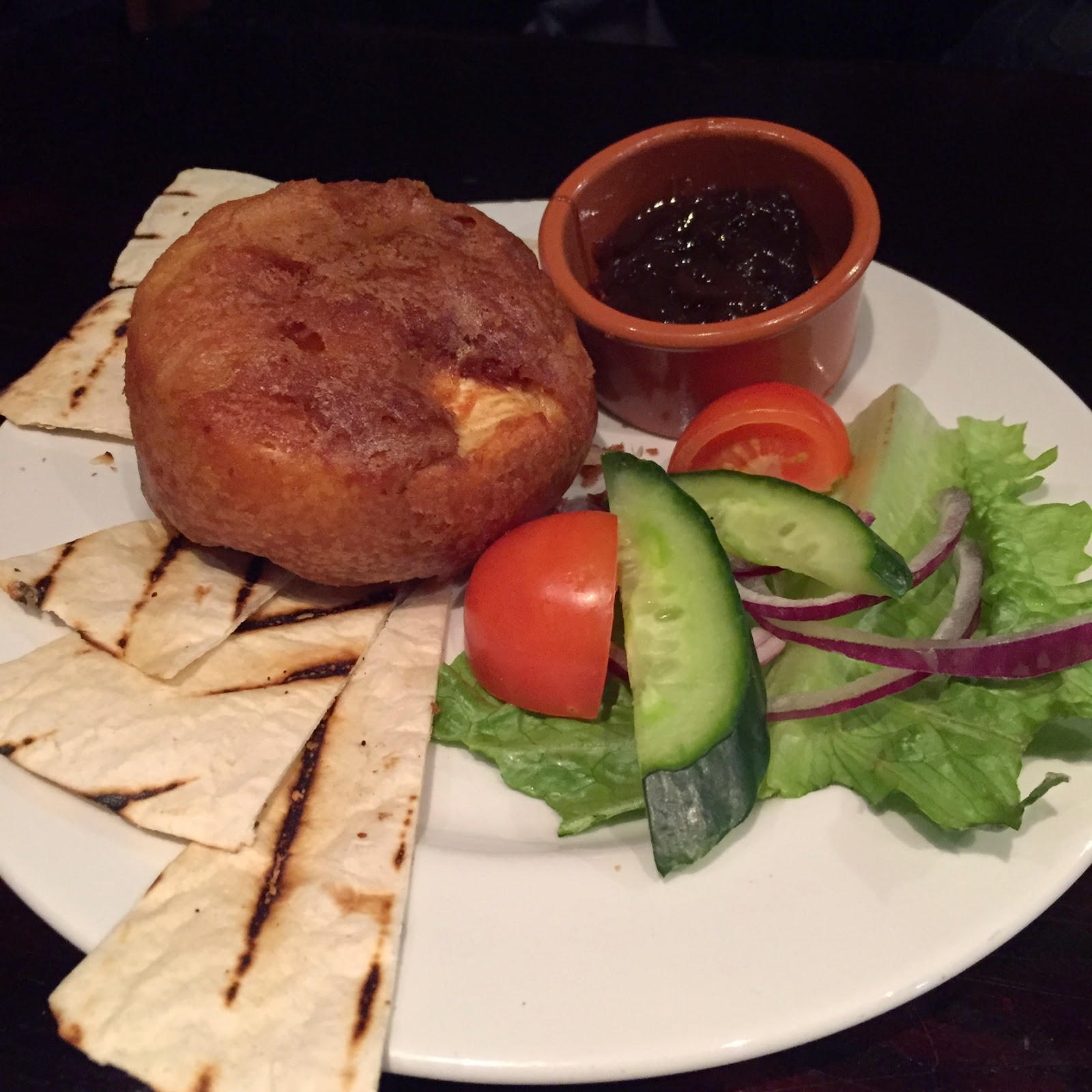 deep fried camembert, slain's castle, aberdeen