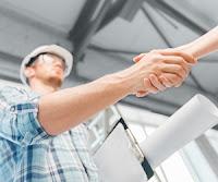 Contractor handshake