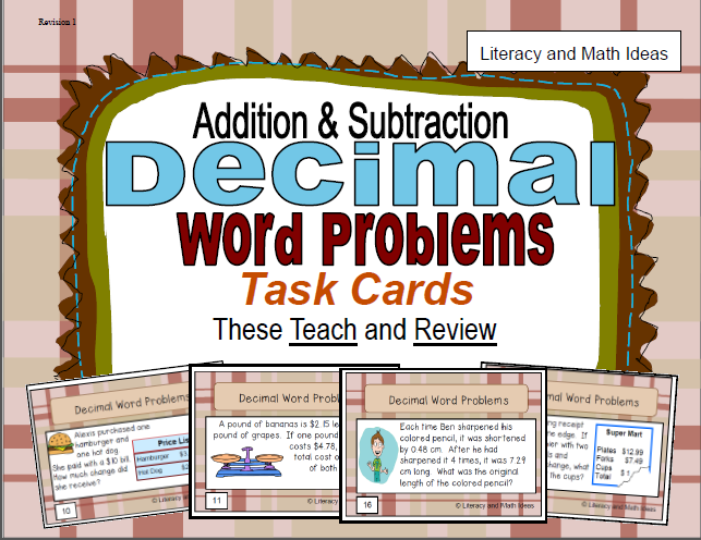 Literacy & Math Ideas: October 2014