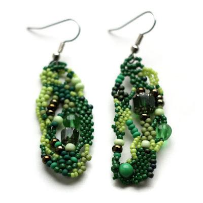 купить сережки зеленого цвета серьги уникального дизайна