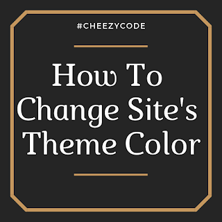 change address bar theme color using meta tag