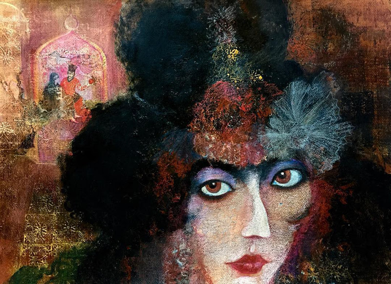 Beautiful Mixed Media Art by Maria Amiragova.