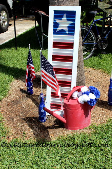 Eclectic Red Barn: 4th of July Camping Decorations