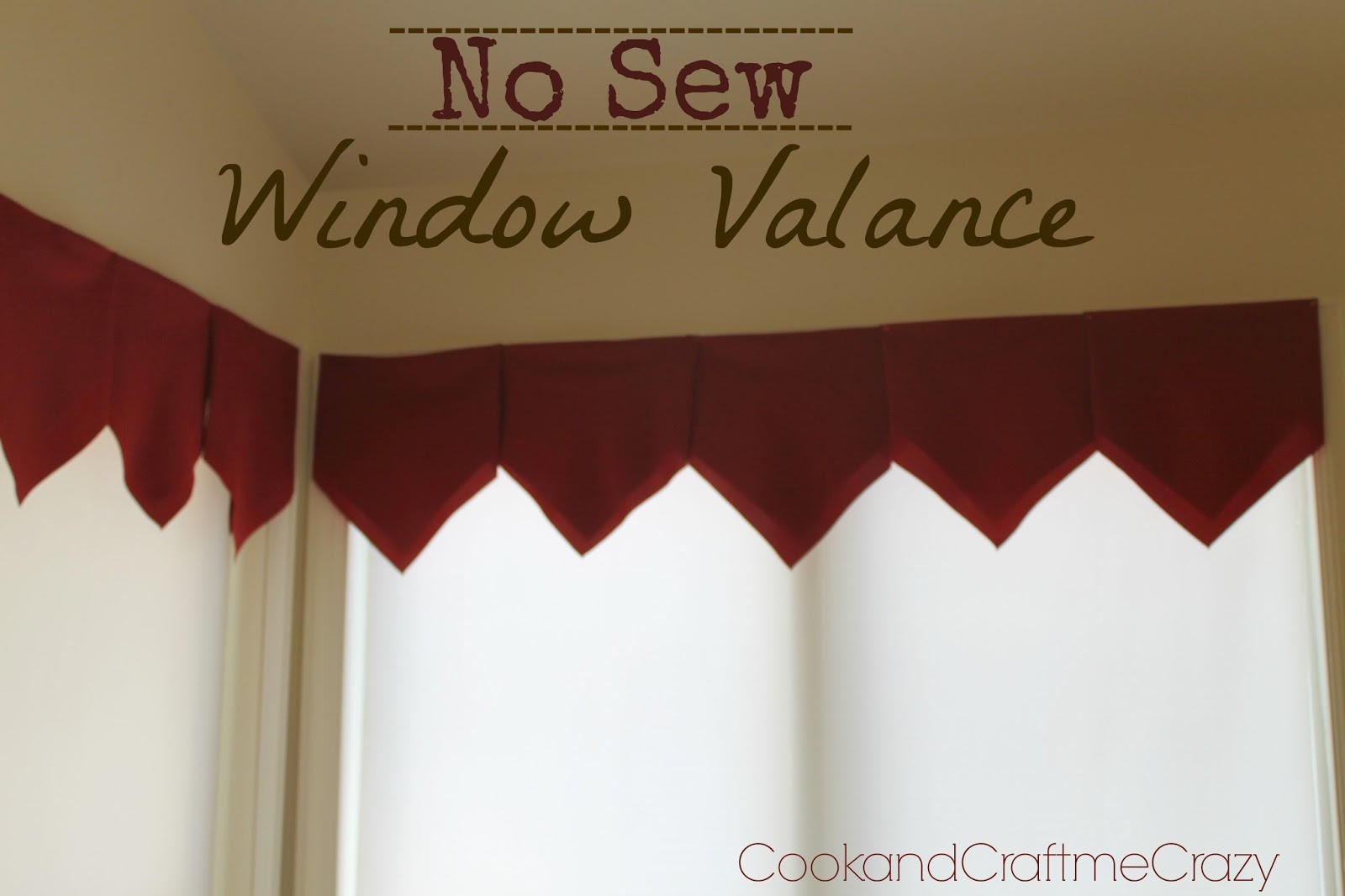 Cook and Craft Me Crazy: No Sew Window Valance