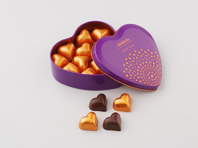 Heart shaped chocolate box-