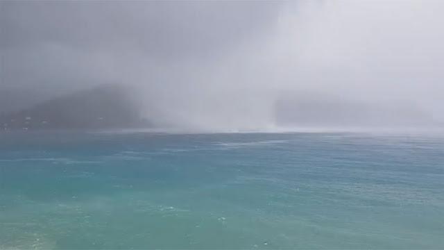 Υδροστρόβιλος σχηματίστηκε στον Πόρο (βίντεο)