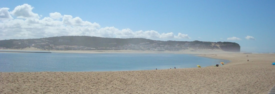 The beach at Foz do Arelho, Silver Coast Portugal