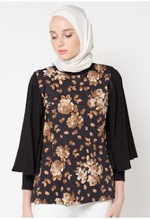 Model Batik Muslim Kerja Elegan