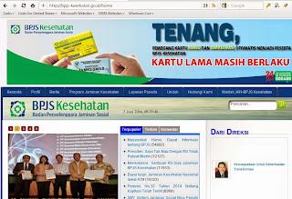 Halaman Utama Website BPJS Online