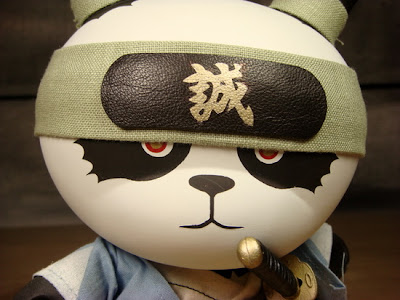 "Ornery & Bloodshot Panda Shinsengumi Custom 8"" Dunny by Huck Gee"