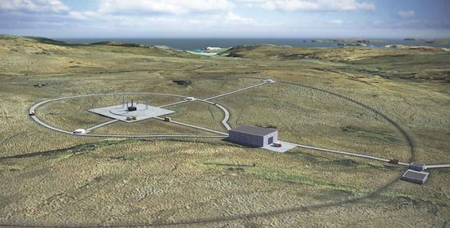 Artist's impression of a UK spaceport. Credit: Perfect Circle PV.