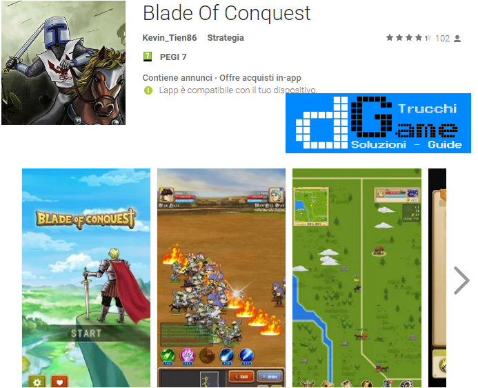 Trucchi Blade Of Conquest Mod Apk Android v1.0.3