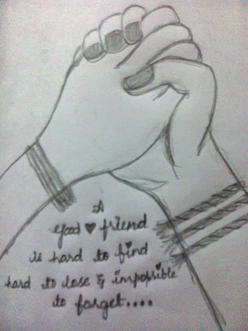 Easy Pencil Drawings Of Friendship - pencildrawing2019