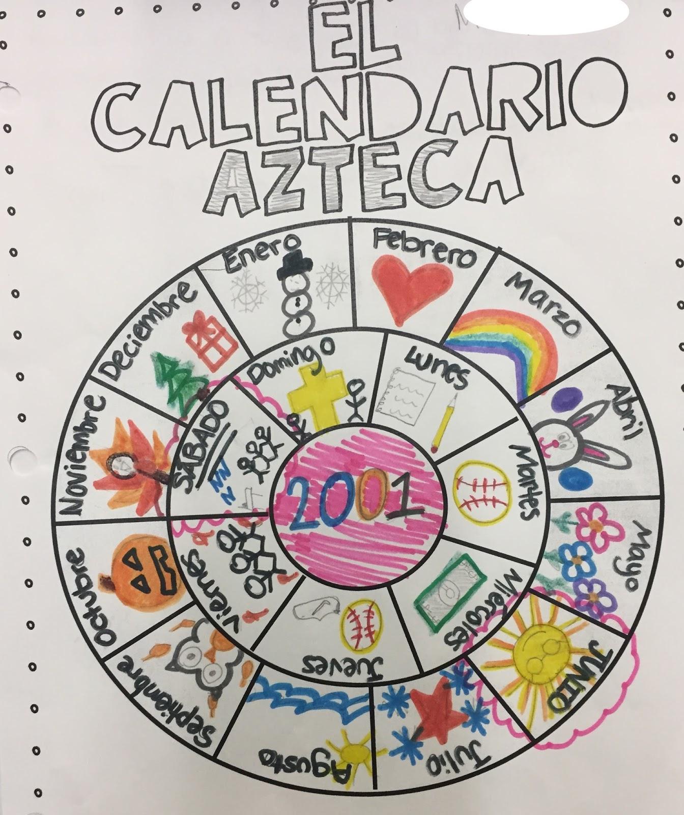 Aztec Calendar Art Lesson : Spanish with señora botero moriarty el calendario azteca