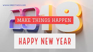 3D 2018 New Year Picture Messages from greetings.live