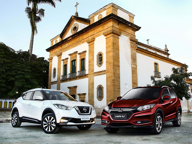 Honda HR-V x Nissan Kicks - comparativo