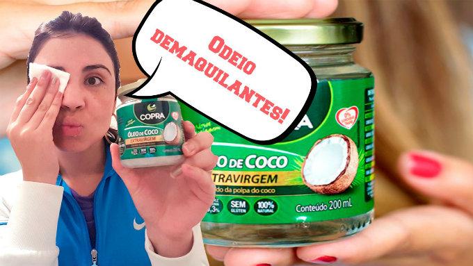 óleo de coco como demaquilante