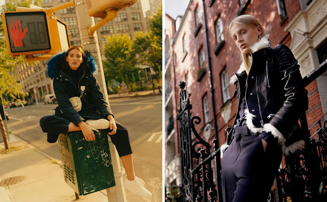 Парка и кожаная куртка с меховой оторочкой
